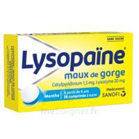 LysopaÏne Comprimés à Sucer Maux De Gorge Sans Sucre 2t/18 à LEVIGNAC