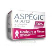 Aspegic Adultes 1000 Mg, Poudre Pour Solution Buvable En Sachet-dose 20 à LEVIGNAC