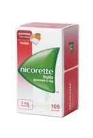 Nicorette 2 Mg Gomme à Mâcher Médicamenteuse Sans Sucre Fruits Plq/105 à LEVIGNAC