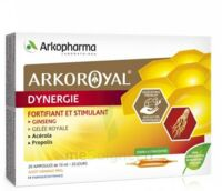 Arkoroyal Dynergie Ginseng Gelée Royale Propolis Solution Buvable 20 Ampoules/10ml à LEVIGNAC