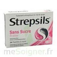 Strepsils Fraise Sans Sucre, Pastille édulcorée à L'isomalt, Au Maltitol Et à La Saccharine Sodique à LEVIGNAC