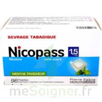 Nicopass 1,5 Mg Pastille Sans Sucre Menthe Fraîcheur Plq/96 à LEVIGNAC