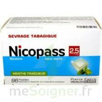 Nicopass 2,5 Mg Pastille Menthe Fraîcheur Sans Sucre Plq/96 à LEVIGNAC