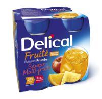 Delical Boisson Fruitee Nutriment Multi Fruits 4bouteilles/200ml à LEVIGNAC