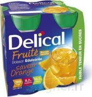 Delical Boisson Fruitee Nutriment édulcoré Orange 4bouteilles/200ml à LEVIGNAC