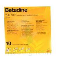 Betadine Tulle 10 % Pans Méd 10x10cm 10sach/1 à LEVIGNAC