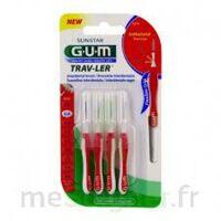 Gum Trav - Ler, 0,8 Mm, Manche Rouge , Blister 4 à LEVIGNAC
