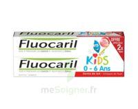 Fluocaril Kids Gel Dentifrice Fraise 0/6ans 2*50ml à LEVIGNAC