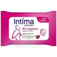 Intima Gyn'expert Lingettes Cranberry Paquet/30 à LEVIGNAC