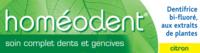 Boiron Homéodent Soin Complet Dents Et Gencives Pâte Dentifrice Citron 2t/75ml à LEVIGNAC