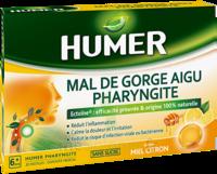 Humer Pharyngite Pastille Mal De Gorge Miel Citron B/20 à LEVIGNAC